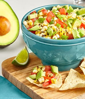 Corn Relish with Avocados