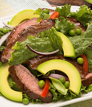 Asian Salad with Beef & Avocado