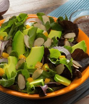 Baby Greens, Avocado, and Mango Salad with Toasted Almonds