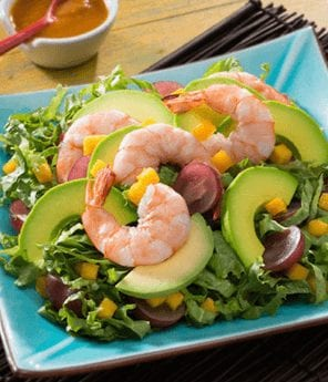 Shrimp, Avocado, Winter Fruit Salad