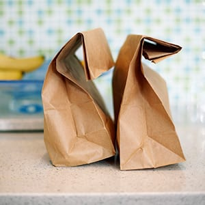 A brown paper bag