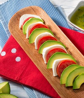 Tomato, Avocado and Mozzarella Salad with Cilantro Vinaigrette