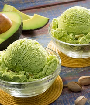 Avocado and Pistachio Ice Cream
