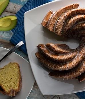 Avocado Coconut Pound Cake