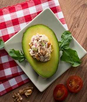 Avocado Halves Stuffed with Tuna Salad