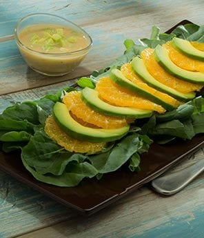 Avocado and Citrus Salad with Dijon Avocado Vinaigrette