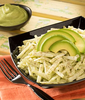 Chayote Salad with Avocado and Pepita Dressing