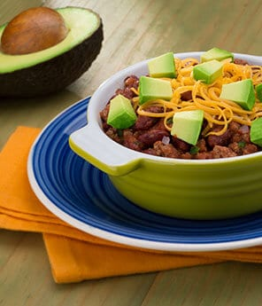Beef Chili with Avocado
