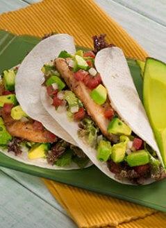 Grilled Fish Tacos with Avocado Pico de Gallo