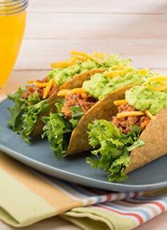 Crispy Beef Tacos With Guacamole