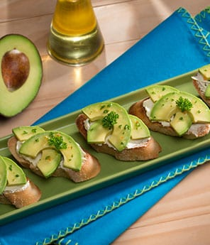Avocado, Tomato, and Goat Cheese Toasts