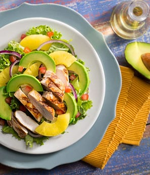 Tropical Chicken and Avocado Salad