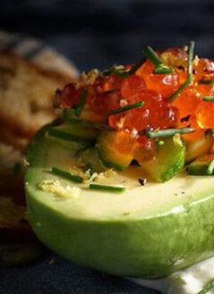 Avocado Boat With Salmon Caviar