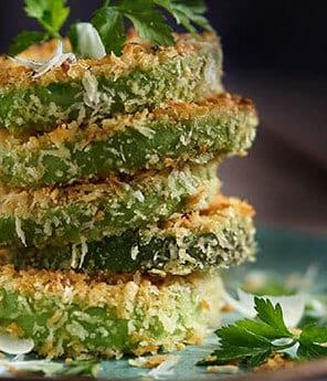 Garlic-Parmigiano Crusted Avocado Rings