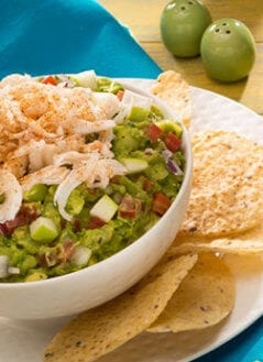Tarragon, Apple, and Crab Guac