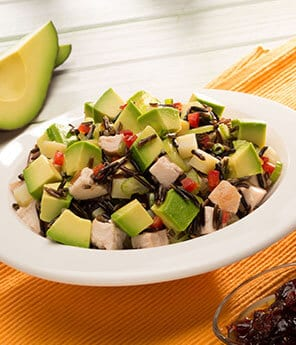Wild Rice, Sweet Potato, Turkey and Avo Salad