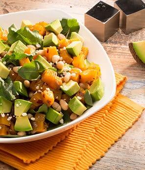 Cannellini, Roasted Squash and Avo Salad