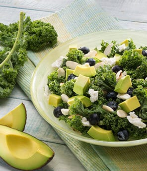 Superfood Green & Blue Avocado Salad with Avocado Lime Dressing