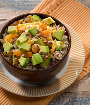 Brown Rice with Avocado