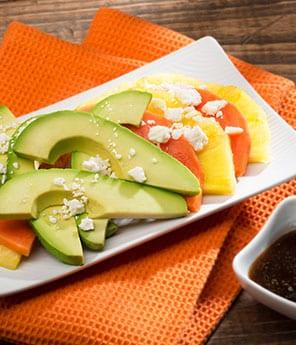 Papaya, Avocado, and Pineapple Salad