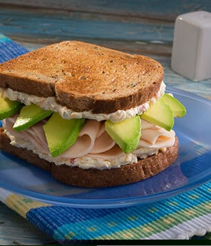 Pepper and Turkey Sandwich