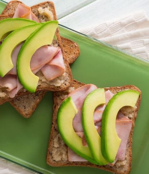 Avocado Toast with Ham