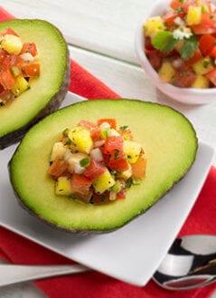 Avocado Stuffed with Pico De Gallo and Pineapple