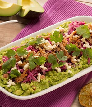 Pickled Red Cabbage Guacamole