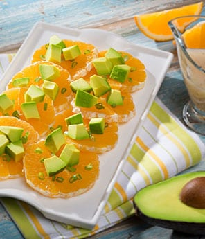 Orange Salad and Avocado with Honey Dressing