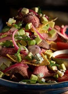 Steakhouse Nachos With Avocado