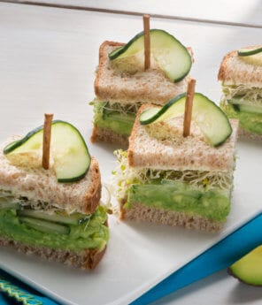 Cucumber & Avocado English Tea Sandwiches