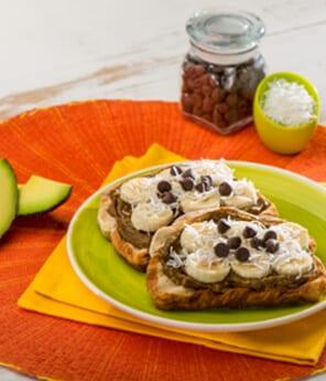 Chocolate Avocado Chunky Monkey Toast
