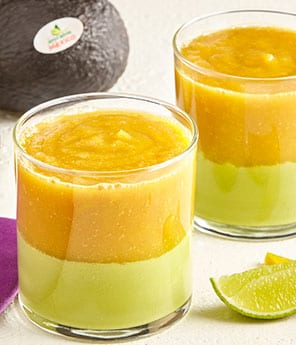 Ethiopian Layered Smoothie with Avocado and Mango