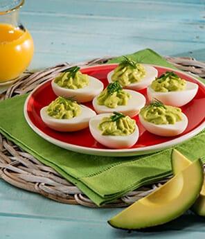 Avocado and Fresh Herb Deviled Eggs
