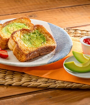 French Toast Stuffed with Avocado