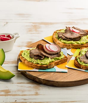 Roast Beef with Avocado-Horseradish Mayonnaise