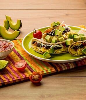 Breakfast Tacos with Avocado