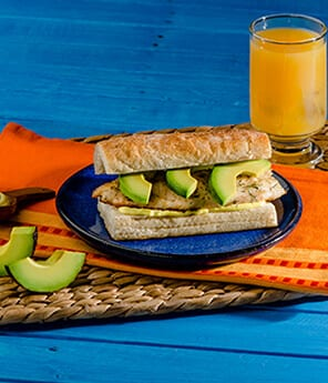 Citrus-Spiked Fish and Avocado on Ciabatta