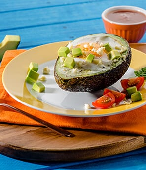 Mexican-Style Avocado Baked Egg Cup