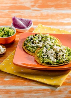 Avocado, Cotija, and Toasted Pepita Tostadas