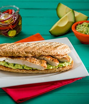 Grilled Chicken Sandwich with Avocado-Jalapeño Mayonnaise
