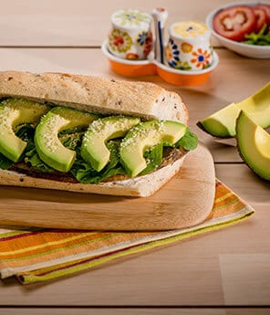 Eggplant Parmesan and Avocado Sandwich