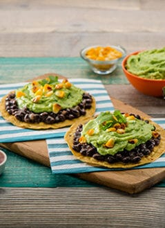 Black Bean Avocado Tostadas