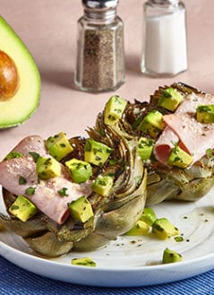 Artichokes with Avocado Vinaigrette