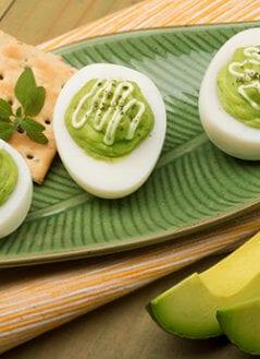 Avocado Stuffed Eggs