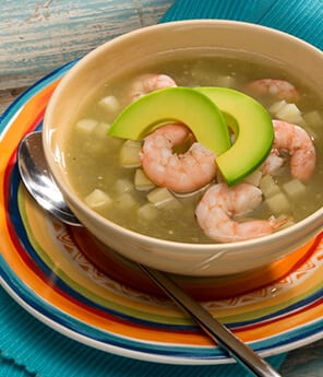 Rustic Shrimp with Avocado