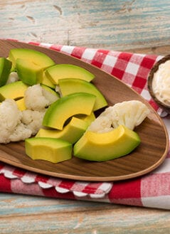 Cauliflower with Avocado