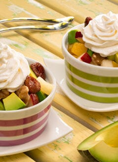 Fruit Salad with Avocado and Cream