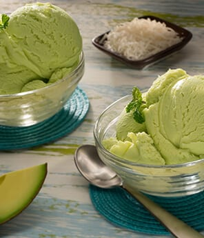 Coconut Avocado Ice Cream