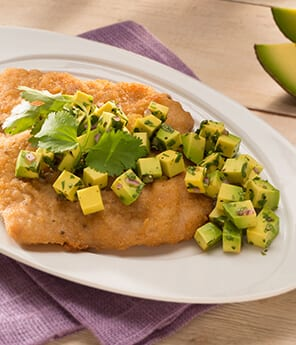 Breaded Fish with Avocado Salsa